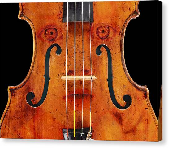 Girl In A Violin Canvas Print