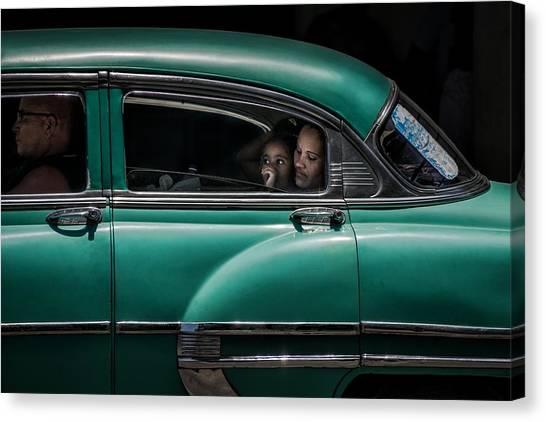 Street Canvas Print - Girl In Green by Pavol Stranak