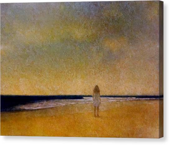 Girl On A Beach Canvas Print