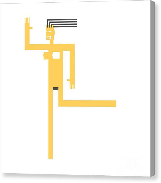 Suprematism Canvas Print - Girl On The Run by Igor Kislev