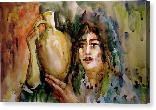 Girl With A Jug. Canvas Print