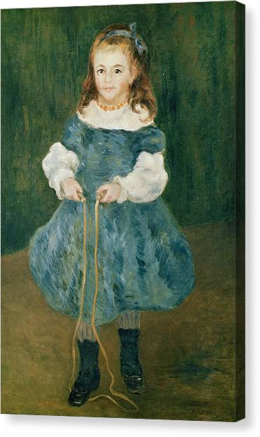 Ankles Canvas Print - Girl With A Skipping Rope, 1876 Oil On Canvas by Pierre Auguste Renoir