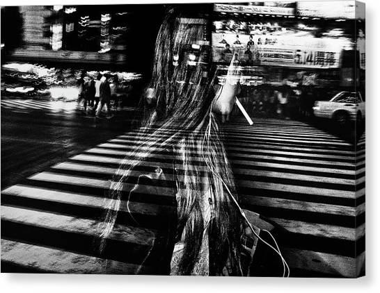 Metropolis Canvas Print - Girl With Cigarette by Tatsuo Suzuki