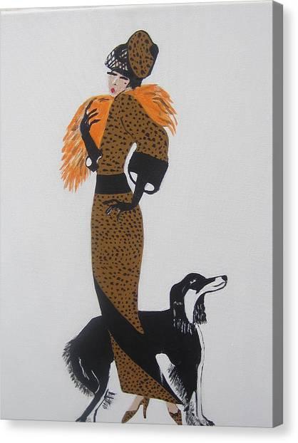 Girl With Orange Fur Canvas Print