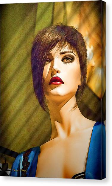 Girl With The Blue Dress On Canvas Print