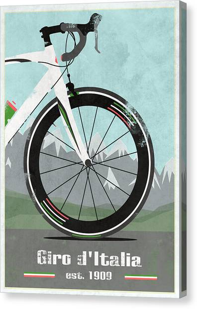 Bicycle Canvas Print - Giro D'italia Bike by Andy Scullion