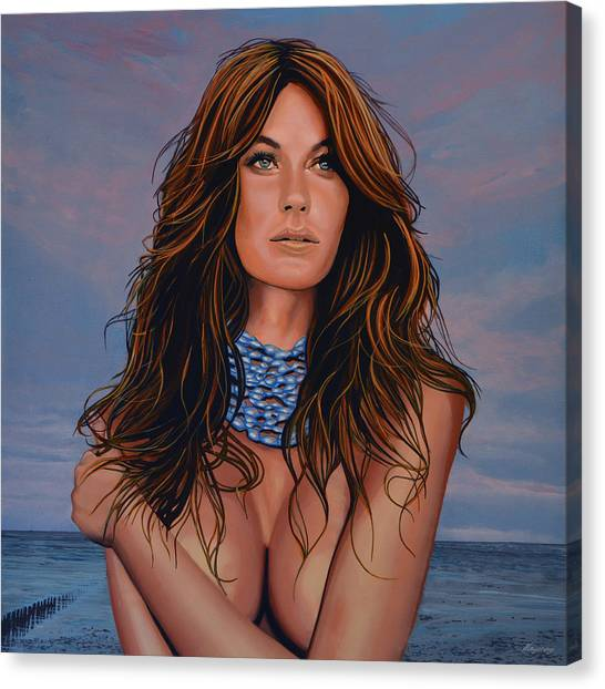 Tom Brady Canvas Print - Gisele Bundchen Painting by Paul Meijering