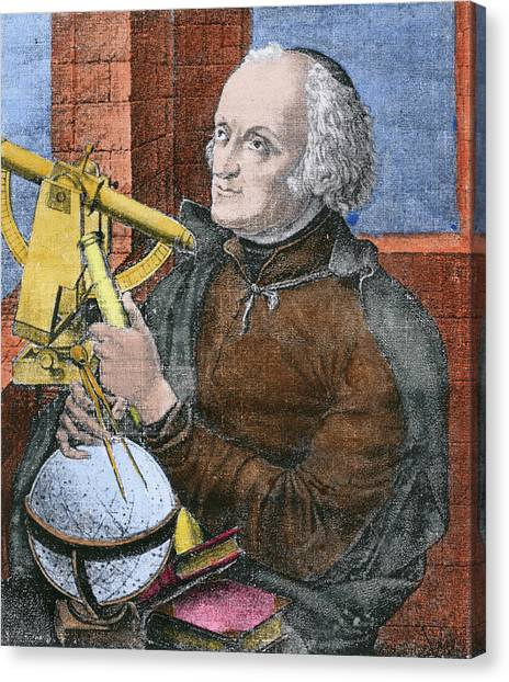 Celestial Sphere Canvas Print - Giuseppe Piazzi by Science Photo Library