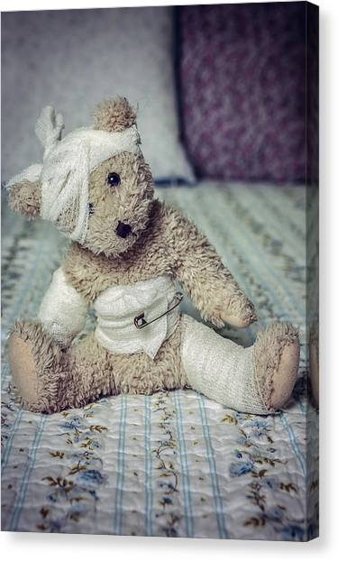Teddybear Canvas Print - Give Me Some Comfort by Joana Kruse