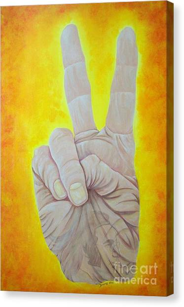 Give Peace A Chance. By Richard Brooks. Canvas Print