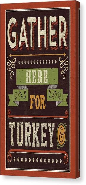 Thanksgiving Canvas Print - Give Thanks I by Pela Studio