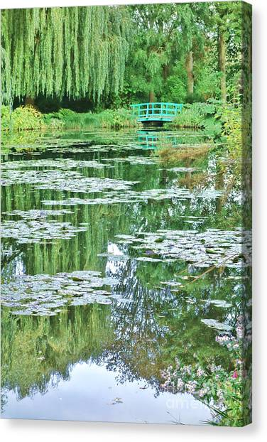Weeping Willows Canvas Print - Giverny by Olivier Le Queinec