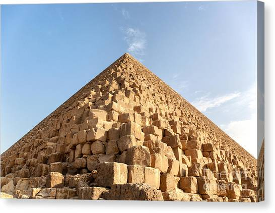 Archaeology Canvas Print - Giza Pyramid Detail by Jane Rix