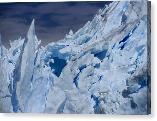 Perito Moreno Glacier Canvas Print - Glacial Blue by Michele Burgess