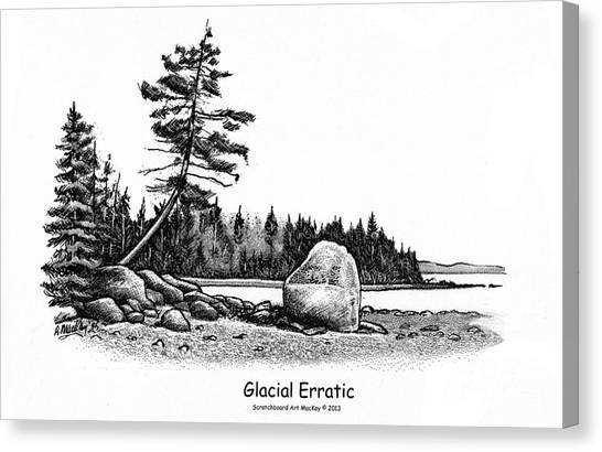 Glacial Erratic Canvas Print