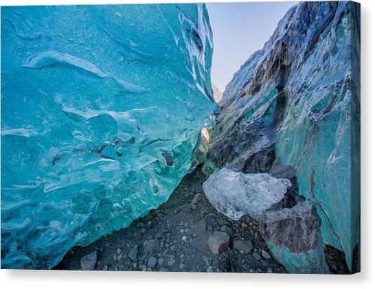 Landform Canvas Print - Glacial Ice Cave, Svinafellsjokull by Panoramic Images