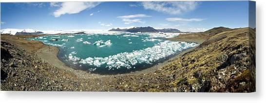 Vatnajokull Glacier Canvas Print - Glacial Lake by Daniel Sambraus/science Photo Library