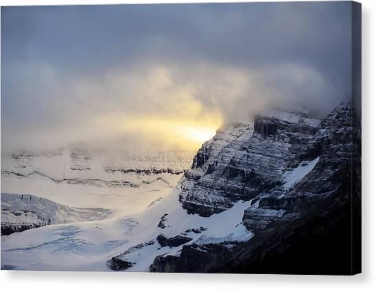 Canada Glacier Canvas Print - Glacier Above Lake Louise Alberta Canada by Mary Lee Dereske