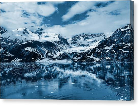 Mountains Canvas Print - Glacier Bay - Alaska - Landscape - Blue  by SharaLee Art
