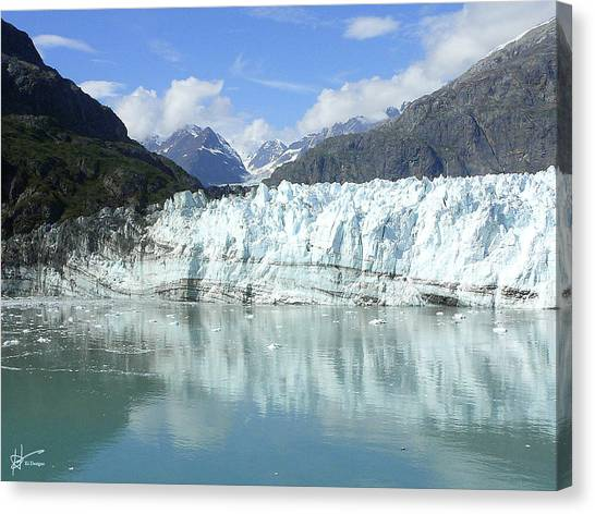 Margerie Glacier Canvas Print - Glacier Bay - Alaska by Karen Hasegawa
