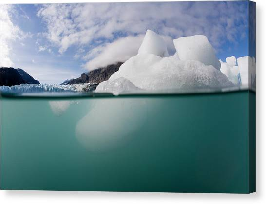 Margerie Glacier Canvas Print - Glacier Bay National Park, Alaska by WorldFoto