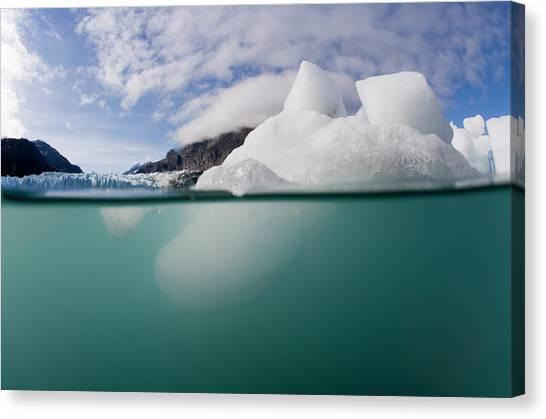 Margerie Glacier Canvas Print - Glacier Bay National Park, Alaska by WorldFoto