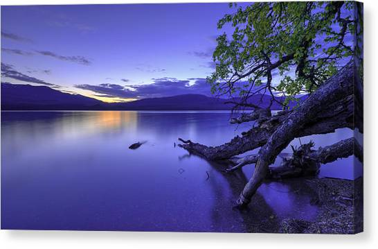 Glacier National Park Canvas Print - Glacier Blue by Chad Dutson