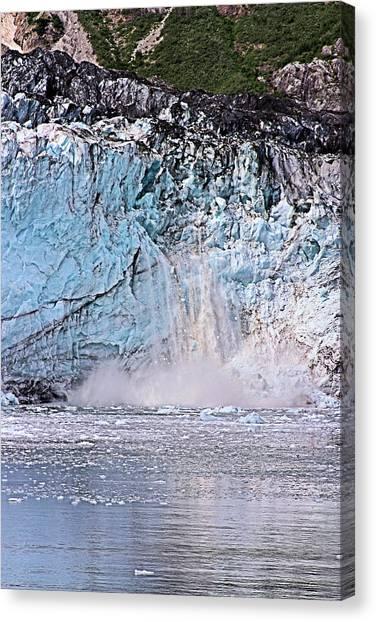Margerie Glacier Canvas Print - Glacier Calving by Kristin Elmquist