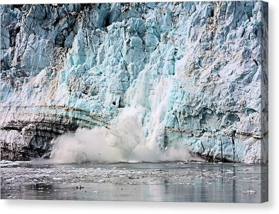 Margerie Glacier Canvas Print - Glacier Calving Margerie by Kristin Elmquist