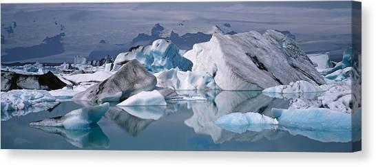Vatnajokull Glacier Canvas Print - Glacier Floating On Water, Vatnajokull by Panoramic Images