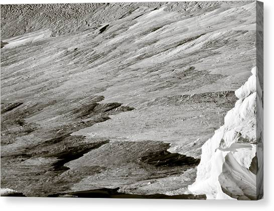 Ice Climbing Canvas Print - Glacier by Frank Tschakert