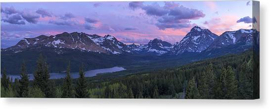 Glacier National Park Canvas Print - Glacier Glow by Chad Dutson
