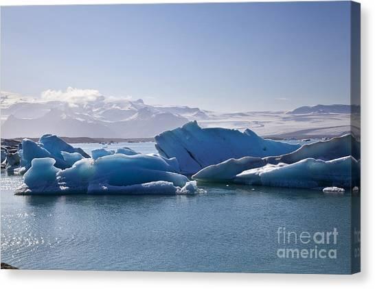 Vatnajokull Glacier Canvas Print - Glacier In Iceland by Fabian Roessler