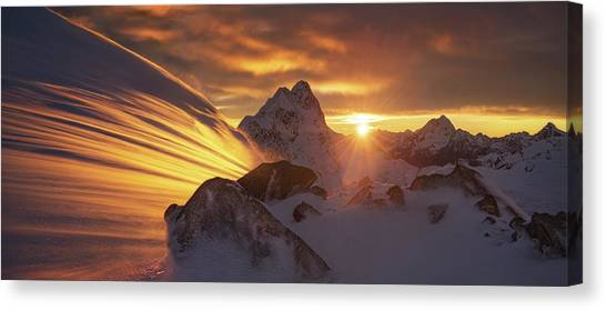 Glaciers Canvas Print - Glacier Light by Yan Zhang