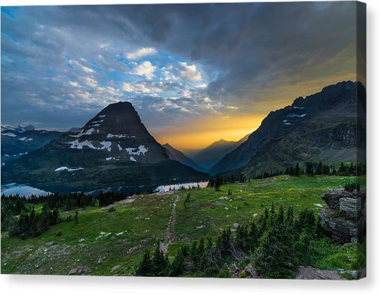 Glaciers Canvas Print - Glacier National Park 3 by Larry Marshall