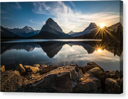 Glaciers Canvas Print - Glacier National Park by Larry Marshall