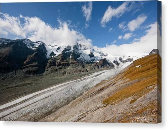 Pasterze Glacier Canvas Print - Glacier Pasterze With Mount by Martin Zwick