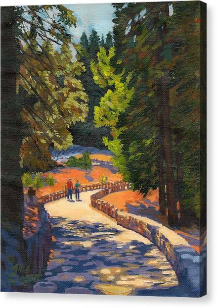 Glacier Point Walk Canvas Print