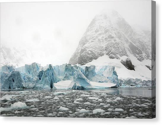 Glacier Bay Canvas Print - Glaciers And Ice In Paradise Bay by Bill Raften