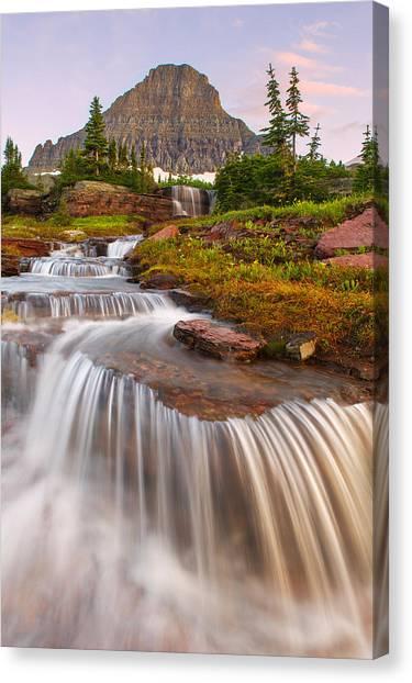 Glacier's Cascades Canvas Print
