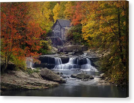 Glade Creek Grist Mill 2 Canvas Print