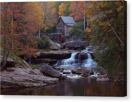 Glade Creek Grist Mill In Autumn Canvas Print