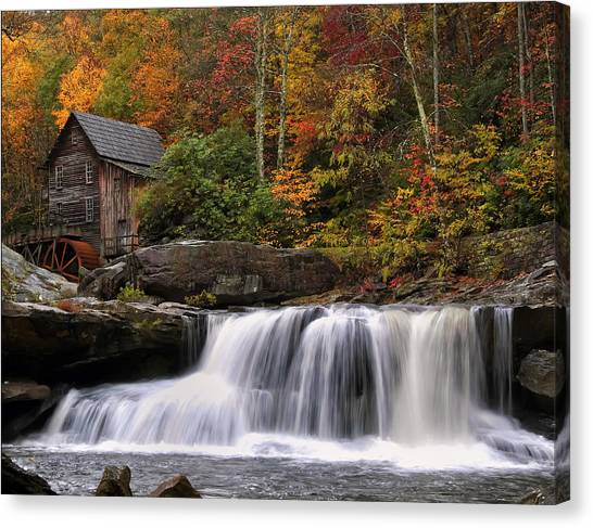 Glade Creek Grist Mill - Photo Canvas Print