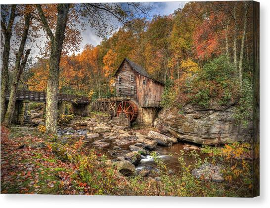 Glade Creek Gristmill Canvas Print