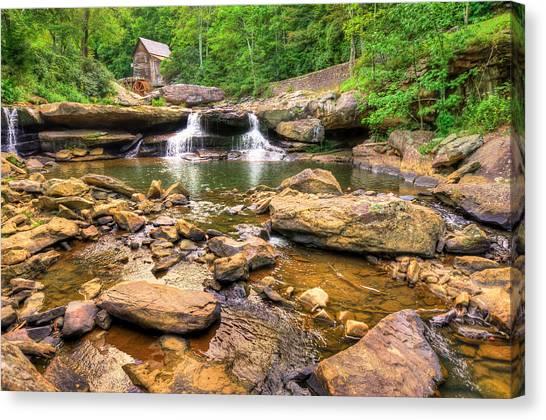 Glade Creek Mill - Beckley West Virginia Canvas Print by Gregory Ballos