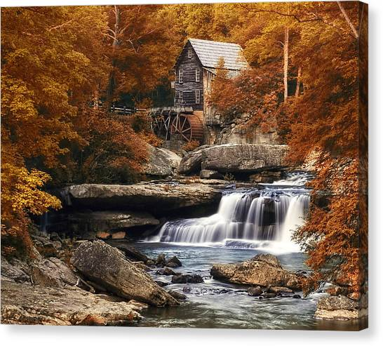 Glade Creek Mill In Autumn Canvas Print