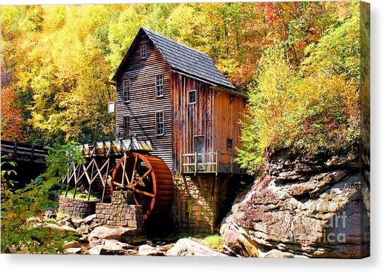 Glade Creek Mill West Virginia Canvas Print