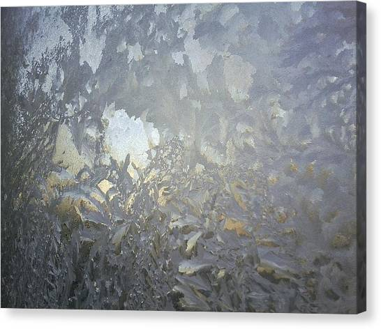 Gladiolas In Ice Canvas Print by Jaime Neo