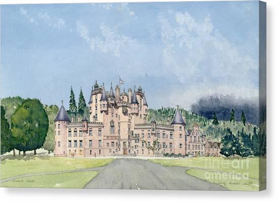 Mortar Canvas Print - Glamis Castle Tayside  by David Herbert
