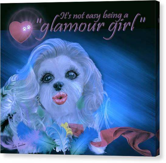 Glamour Girl-2 Canvas Print